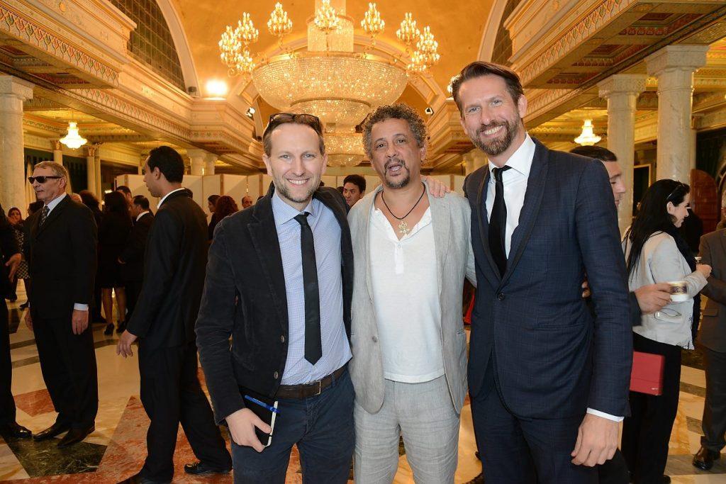 Carthage Film Festival Tunisie avec Francois DeLabarre de Paris Match & l'acteur Abel Jafri