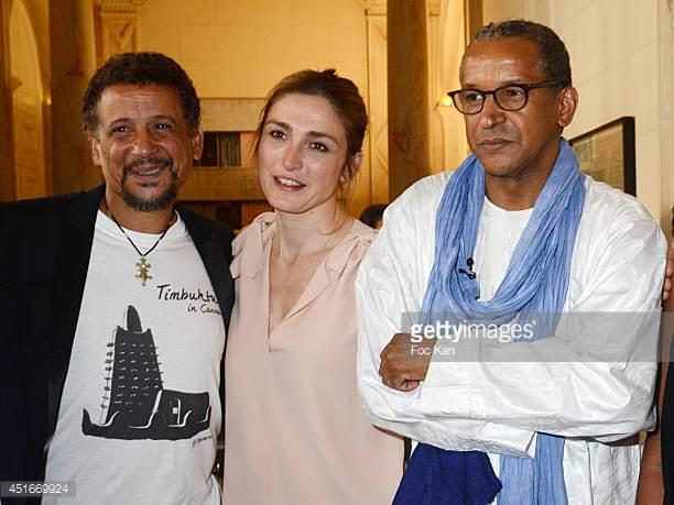 Abel Jafri , Julie Gayet and  the Abderrahmane Sissako,  La Medaille Grand Vermeil award ceremony