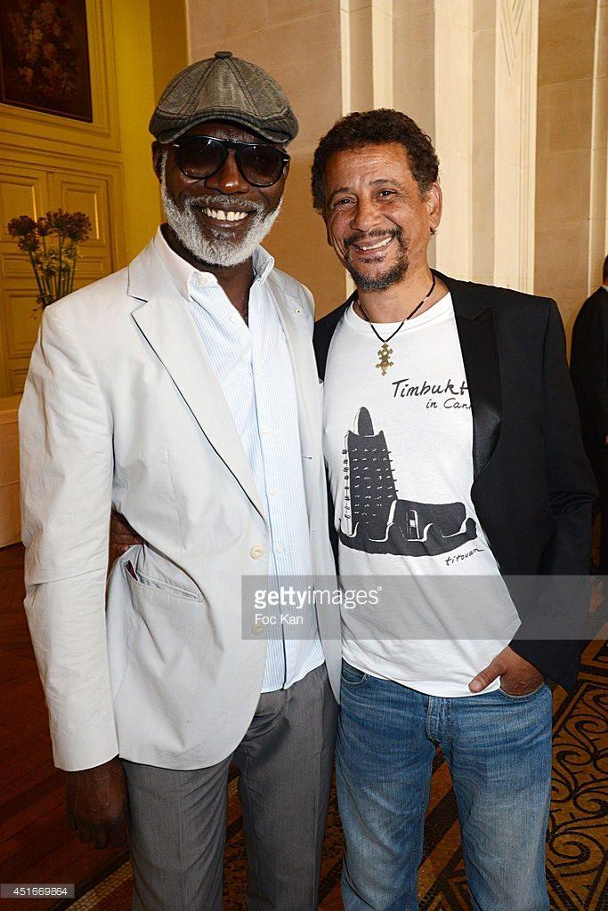 Eriq Ebouaney and Abel Jafri at La Medaille Grand Vermeil award ceremony at Mairie de Paris