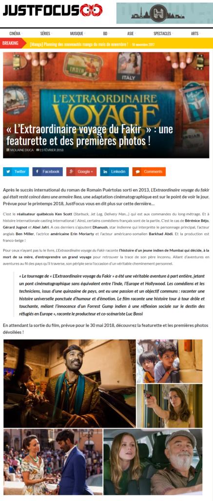 L'EXTRAORDINAIRE VOYAGE DU FAKIR DE KEN SCOOT – ARTICLE ET TEASER